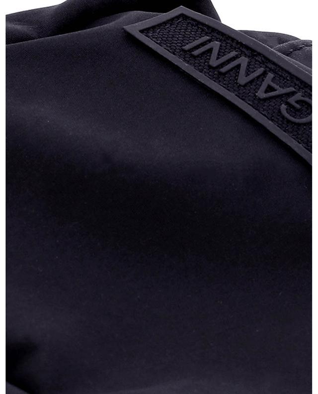 Sac caméra porté épaule minimaliste en nylon noir GANNI