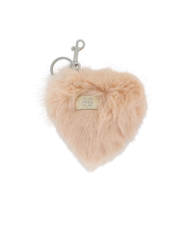 Heart faux-fur keychain STELLA MCCARTNEY