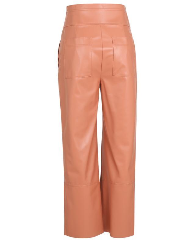 Pantalon large taille haute en cuir nappa synthétique MARC CAIN