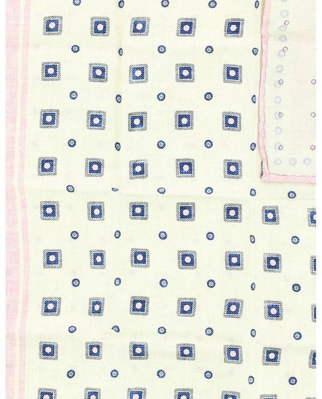 Pochette réversible en soie pois et carrés BRUNELLO CUCINELLI