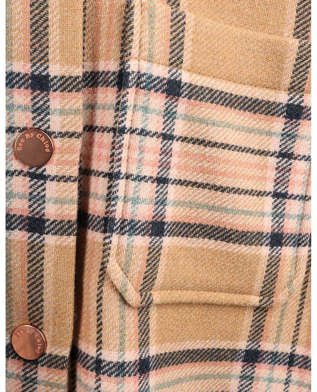 Surchemise oversize à carreaux en laine SEE BY CHLOE