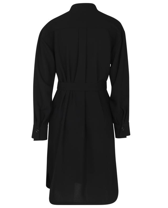 Robe chemise en crêpe à col mao, plastron et ceinture SEE BY CHLOE
