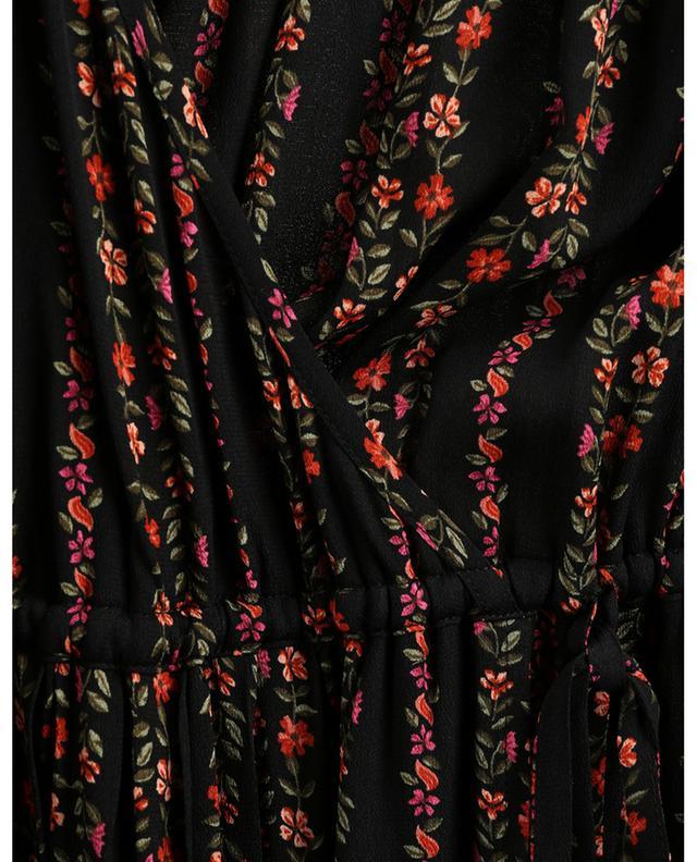 Robe cache-coeur midi imprimée fleurs grimpantes SEE BY CHLOE