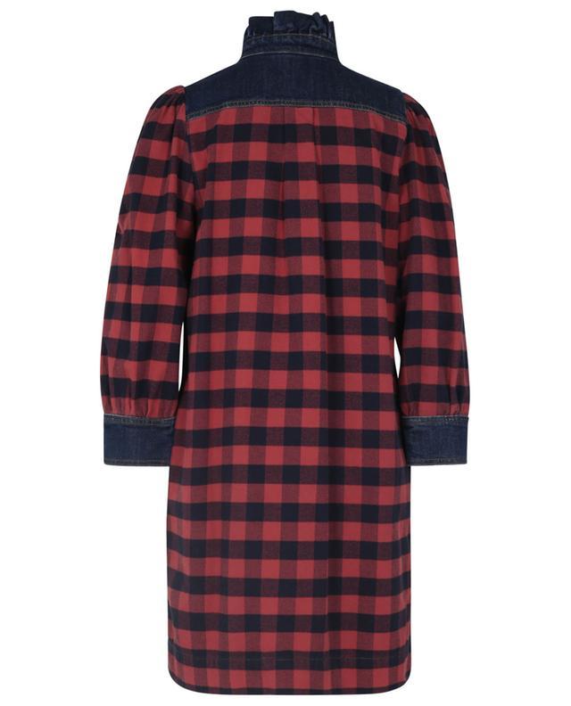 Robe courte à carreaux en flanelle et denim à volants SEE BY CHLOE