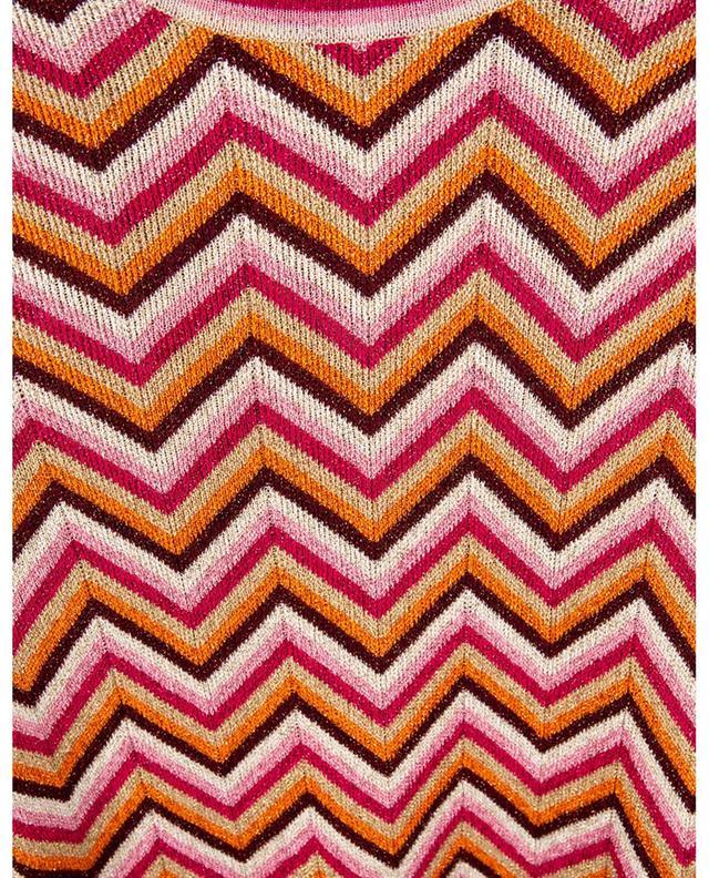 Pull cintré à motifs zigzag scintillants M MISSONI