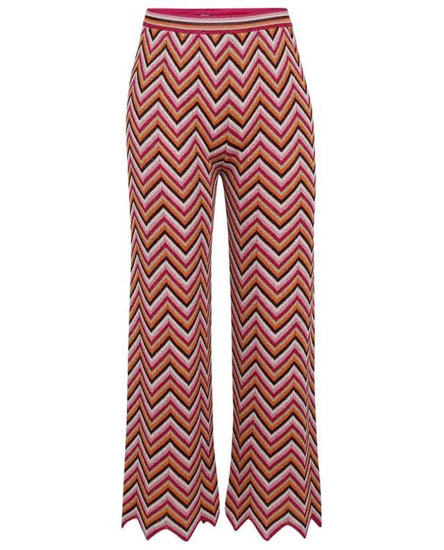 Pantalon large en maille zigzag scintillante M MISSONI