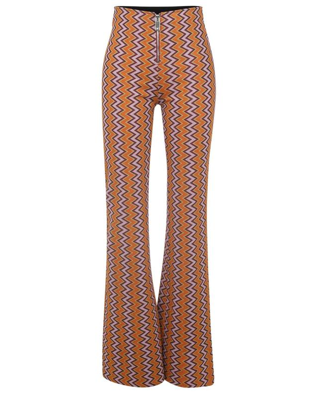 Pantalon évasée en maille motifs zigzag M MISSONI