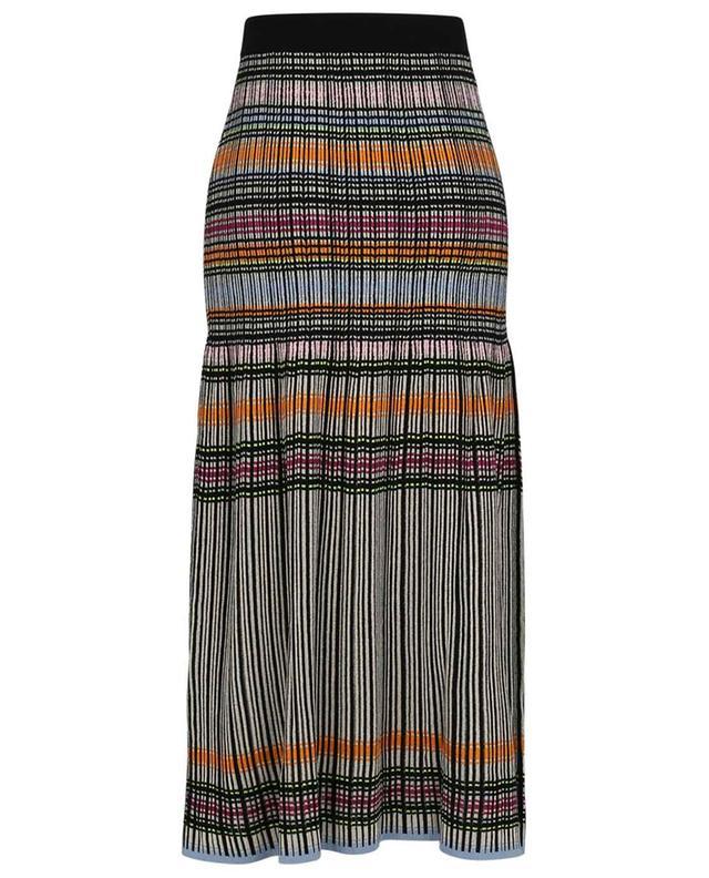 Jupe longue en maille rayée multicolore M MISSONI