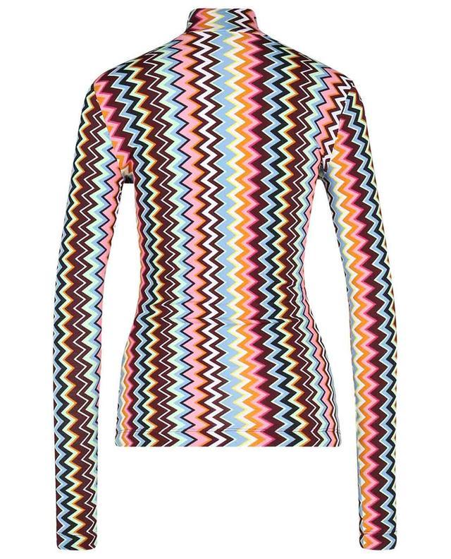 Top à manches longues et col montant ajusté à zigzags M MISSONI