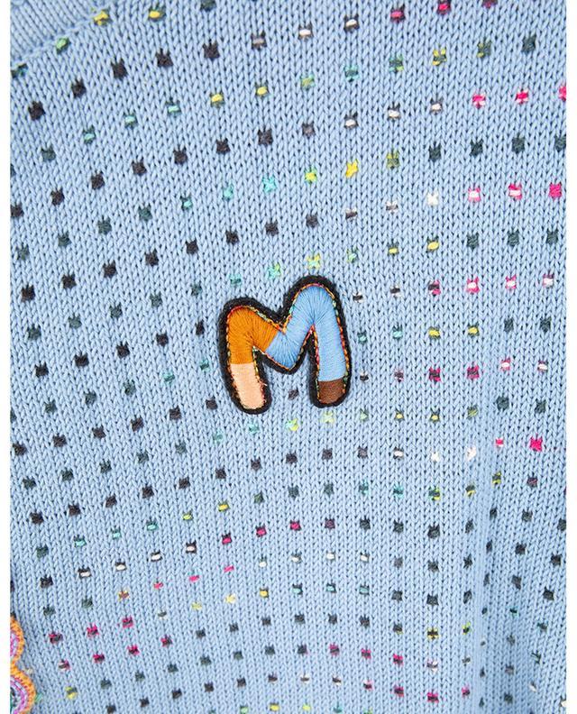 Cardigan boxy monogrammé à pois multicolores M MISSONI