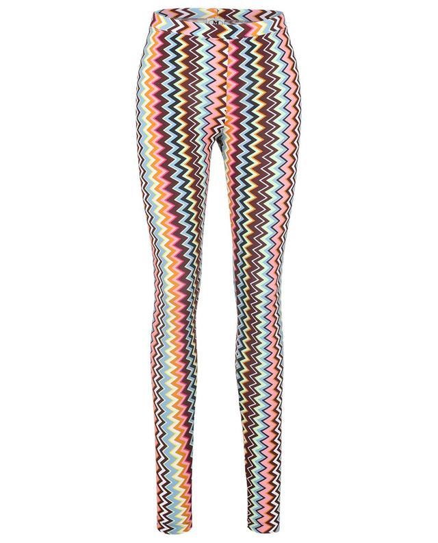 Legging en maille motif zigzag multicolore M MISSONI