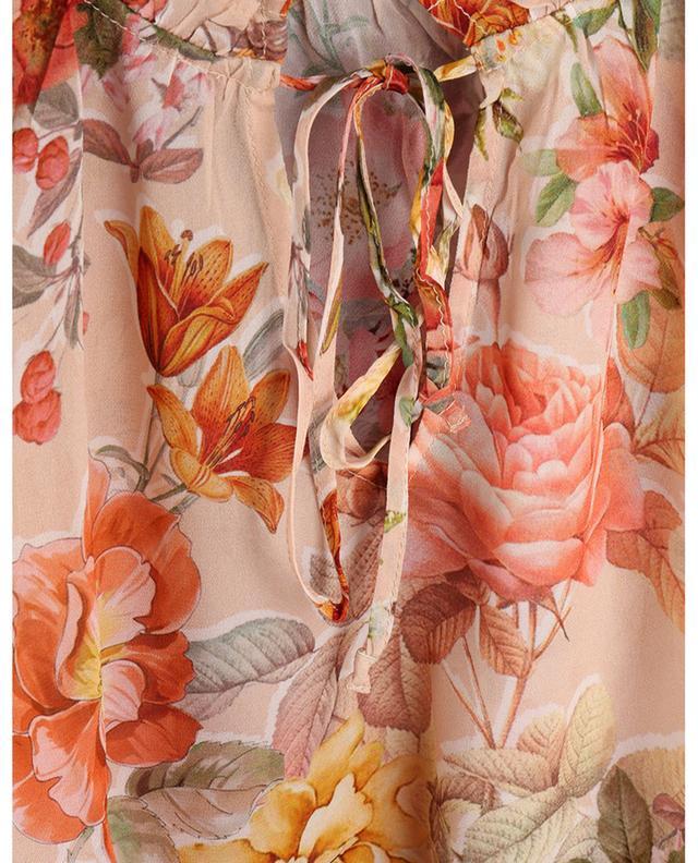 Top à manches volants imprimé Vintage Flower PRINCESS