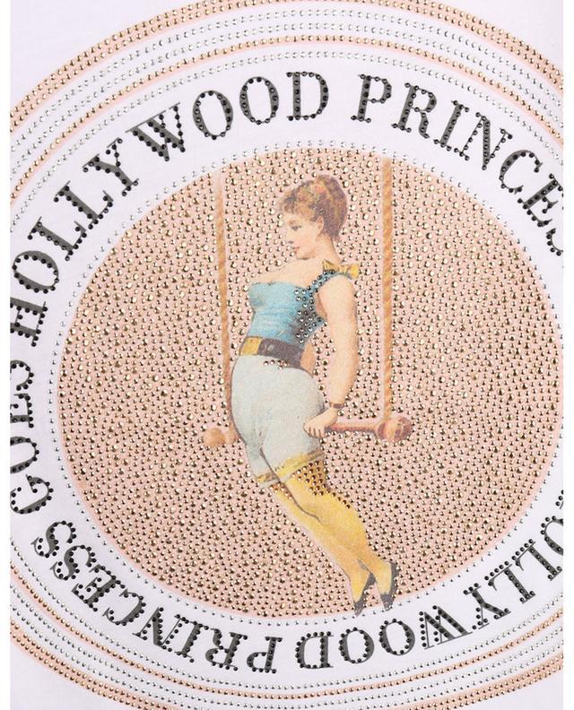 T-shirt imprimé et orné de cristaux Trapèze Volant PRINCESS