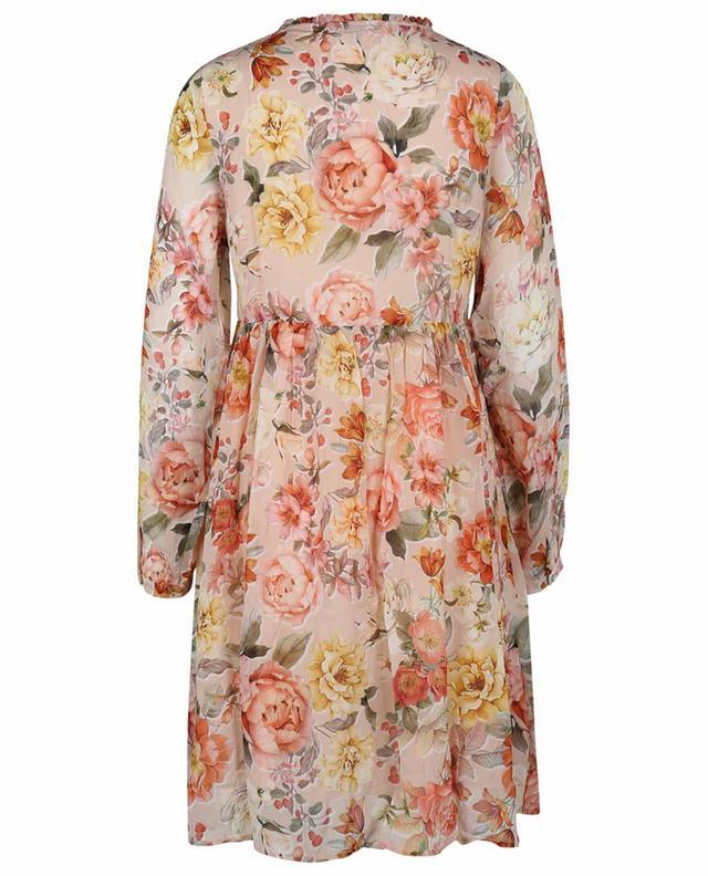 Robe courte ample imprimée Vintage Flower PRINCESS