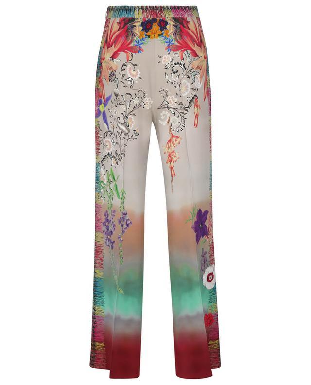 Pantalon large imprimé fleurs multicolore ETRO