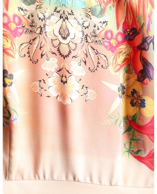 Robe midi empire en soie imprimée fleurs ETRO