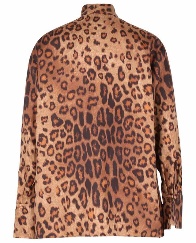 Blouse à lavallière en sergé imprimé léopard ETRO