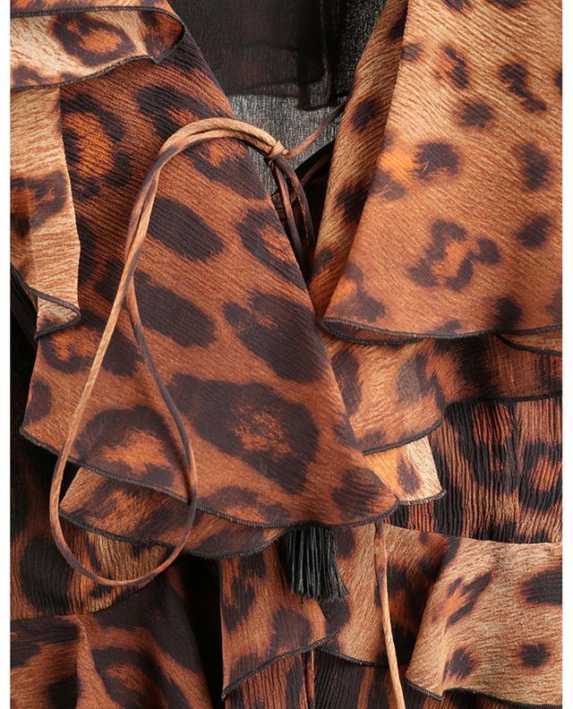 Mini robe en georgette de soie imprimée léopard ETRO