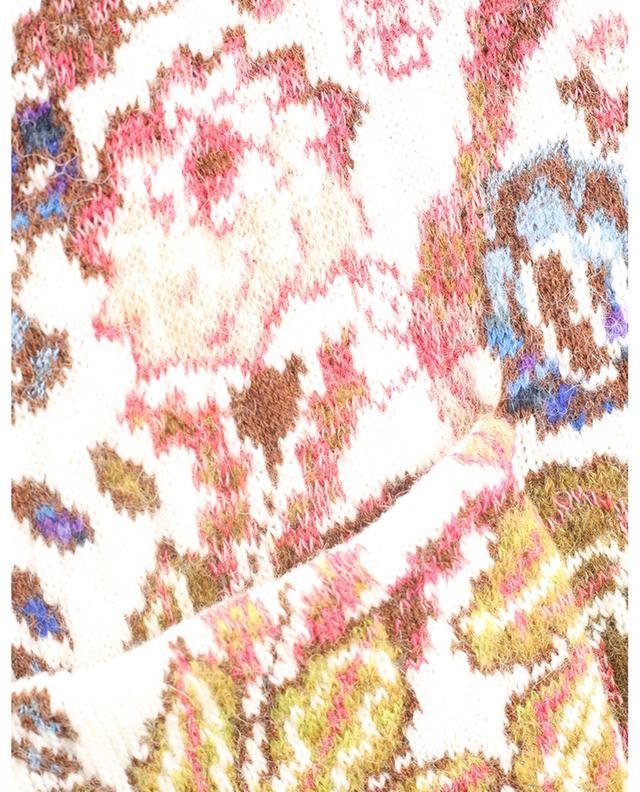 Cardigan jacquard épais à motifs floraux colorés ETRO