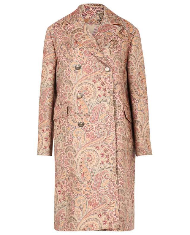 Manteau à double boutonnière en jacquard motif Paisley ETRO