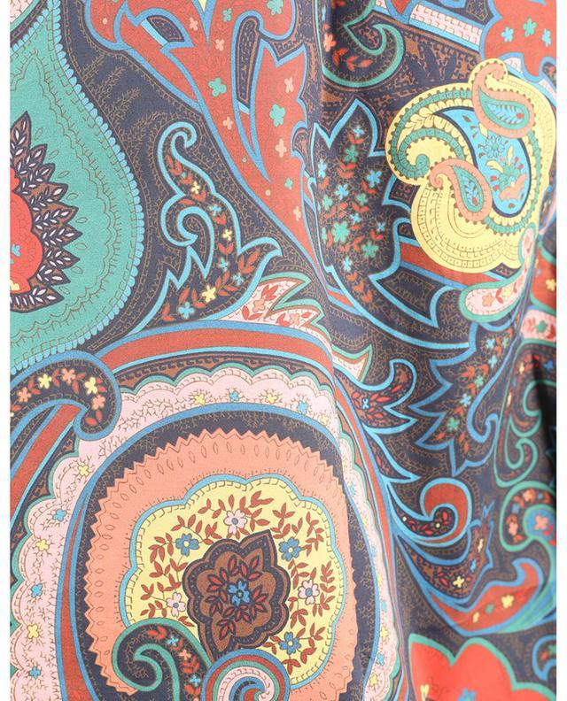 Chemise en popeline stretch imprimée Paisley ETRO