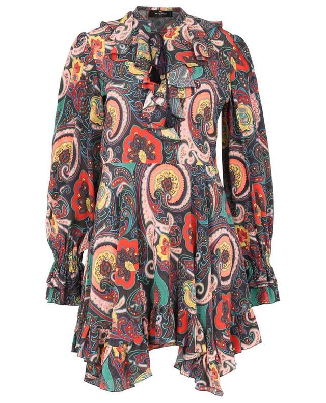 Mini robe à volants en soie imprimée Paisley ETRO