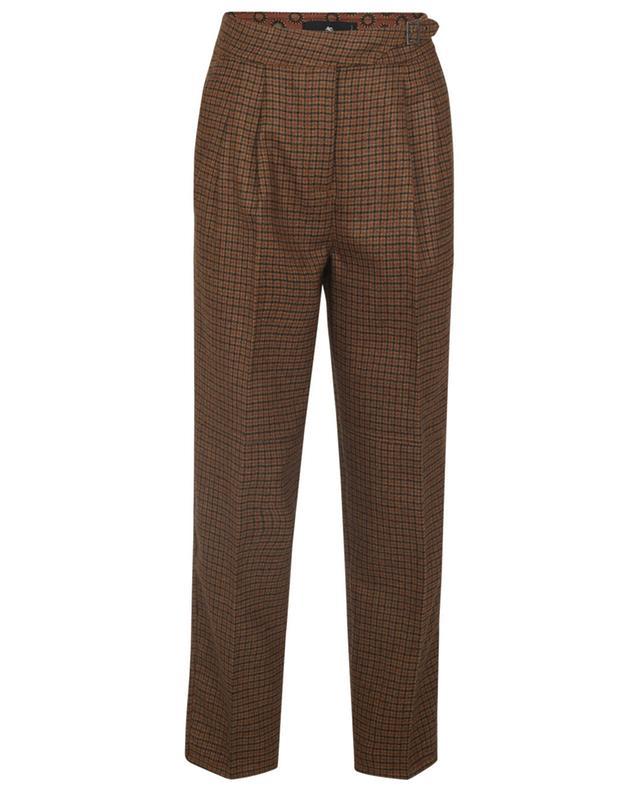 Pantalon carotte à carreaux en laine ETRO