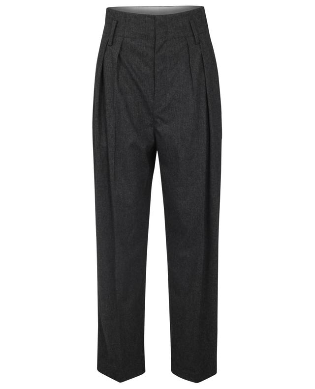 Pantalon fuselé décontracté taille haute en laine mélangée Nilaga ISABEL MARANT ETOILE