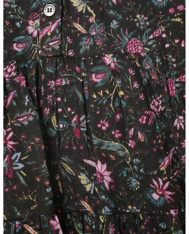Robe courte à volants étagés en coton fleuri Lanikaye ISABEL MARANT ETOILE