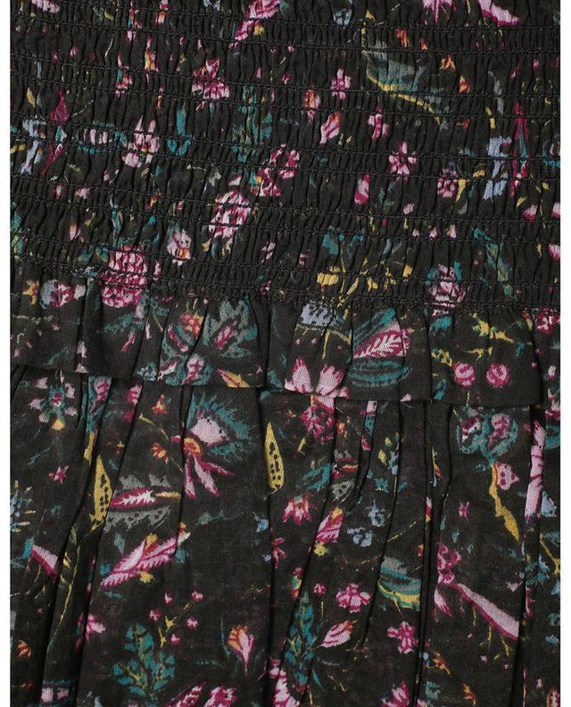 Minijupe à volants étagés en coton fleuri ISABEL MARANT ETOILE