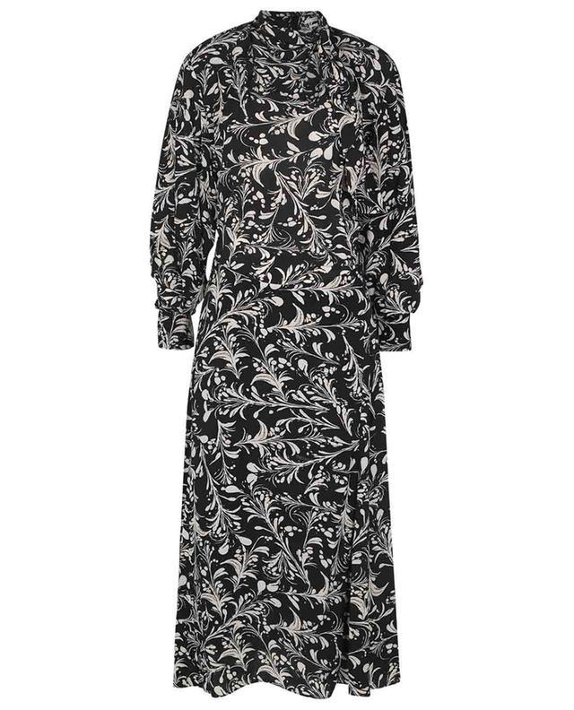 Robe longe à motifs feuillage et lavallière Carine ISABEL MARANT ETOILE