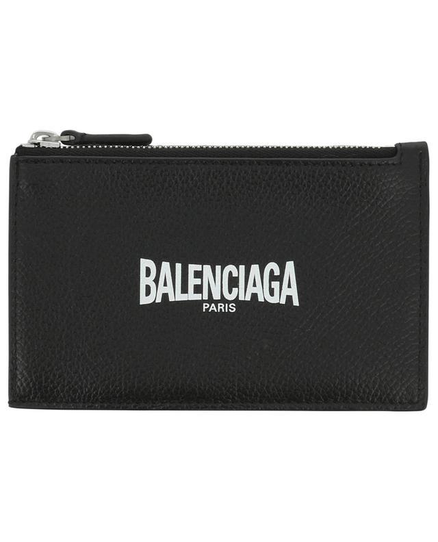 Porte-cartes en cuir avec fermeture éclair Cash Teen Skate Logo BALENCIAGA