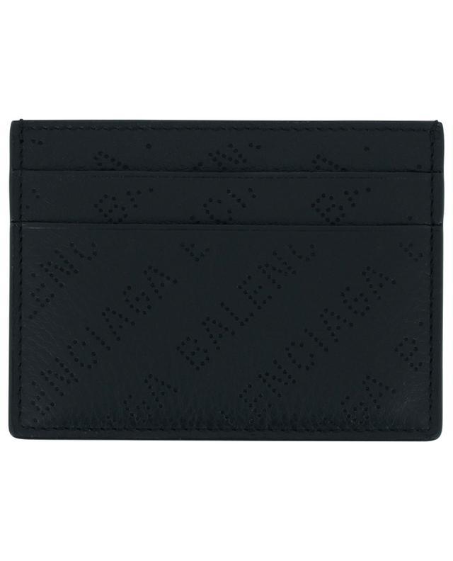 Porte-cartes en cuir grainé perforé logo Cash BALENCIAGA