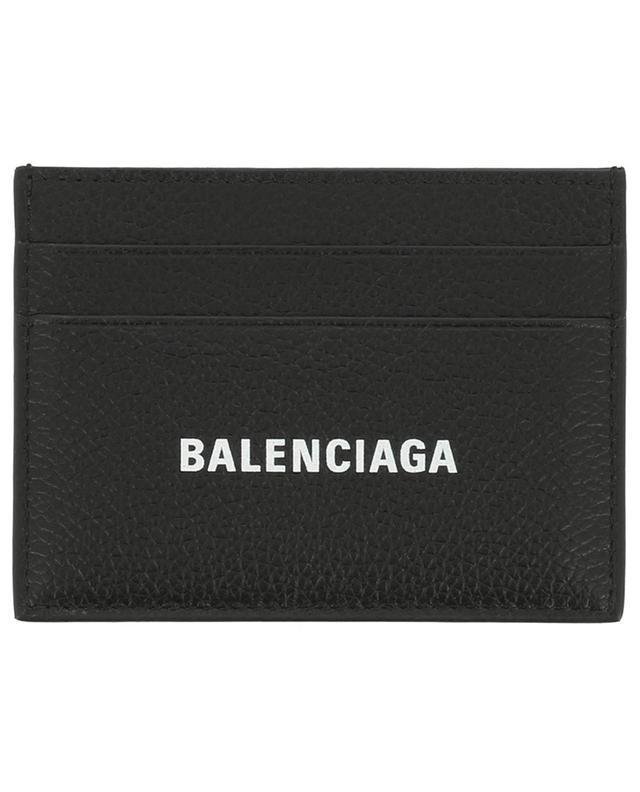 Porte-cartes en cuir avec impression logo Cash BALENCIAGA