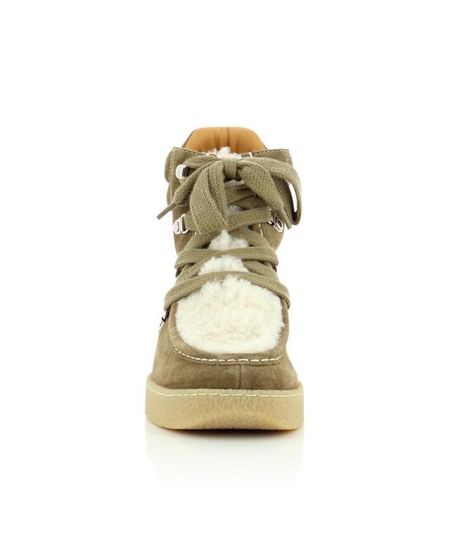 Bottines à lacets en daim et peau lainée Alpica ISABEL MARANT