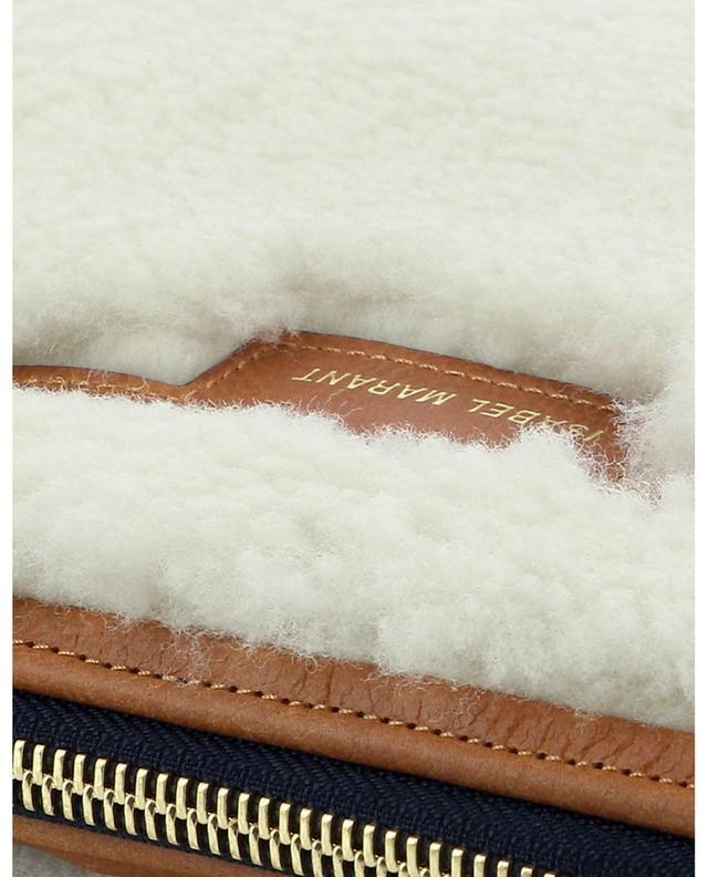 Sac porté épaule en peau lainée Nessah New ISABEL MARANT