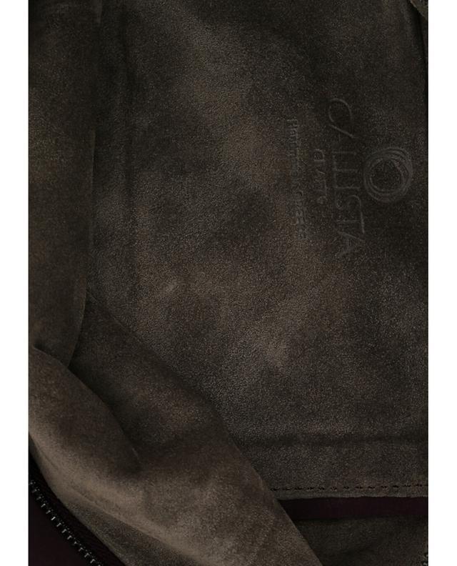 Maxi-Clutch aus Wildleder CALLISTA