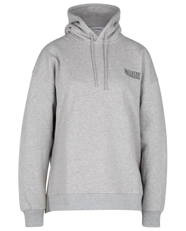 Sweat-shirt oversize à capuche brodé logo SOFTWARE IV GANNI