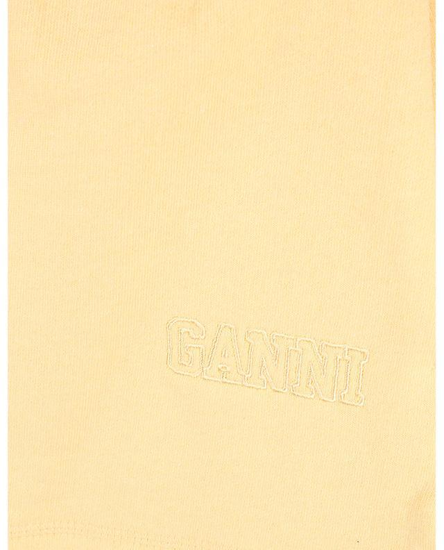Short en molleton brodé logo SOFTWARE GANNI
