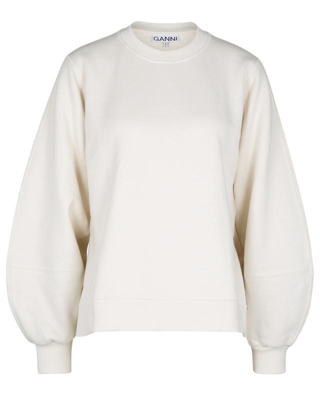 Sweat-shirt à col rond et manches bouffantes SOFTWARE ISOLI GANNI