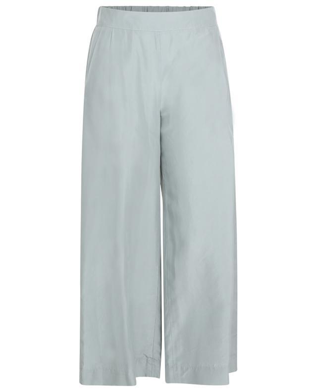 Pantalon culotte drapé en soie VINCE