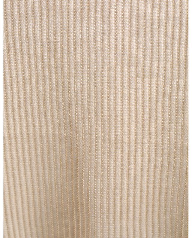 Pull côtelé ajusté en coton VINCE