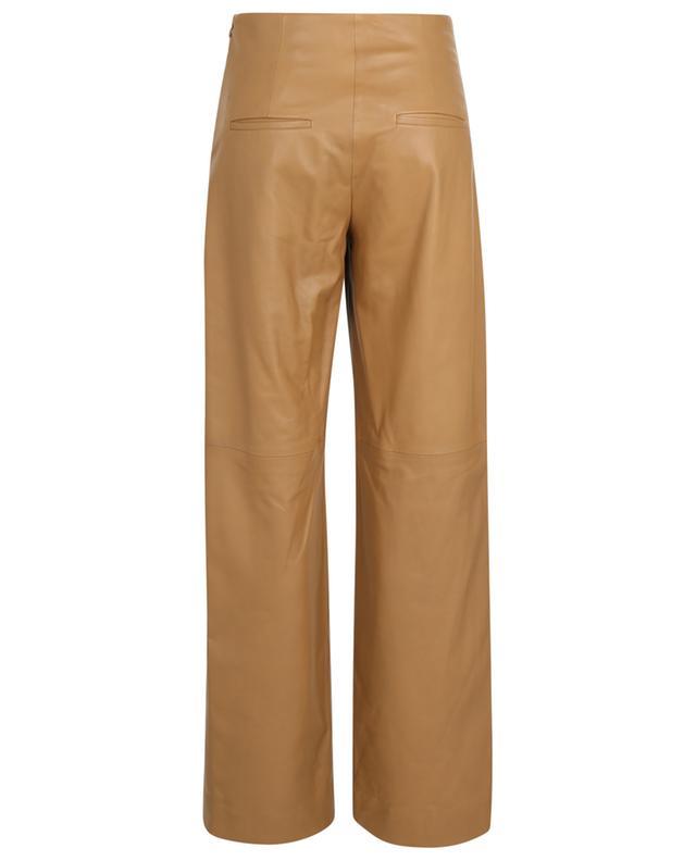 Pantalon large taille haute en cuir nappa VINCE