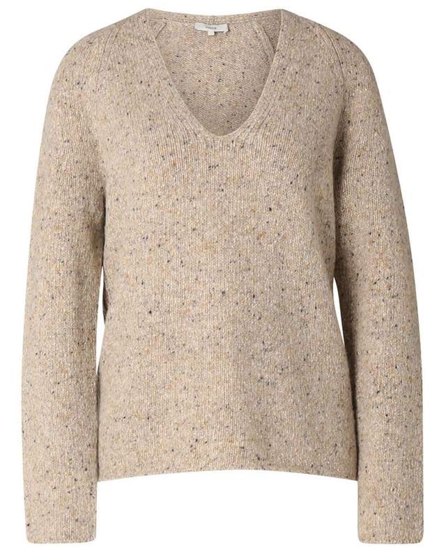 Pull à col V en laine et alpaga mélangés VINCE