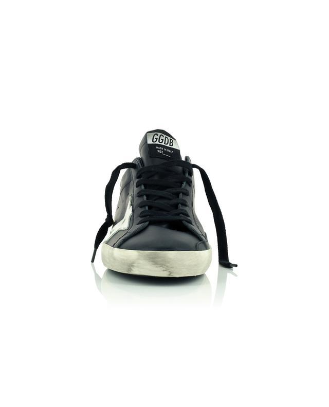 Baskets en cuir noir à étoile blanche Super-Star GOLDEN GOOSE