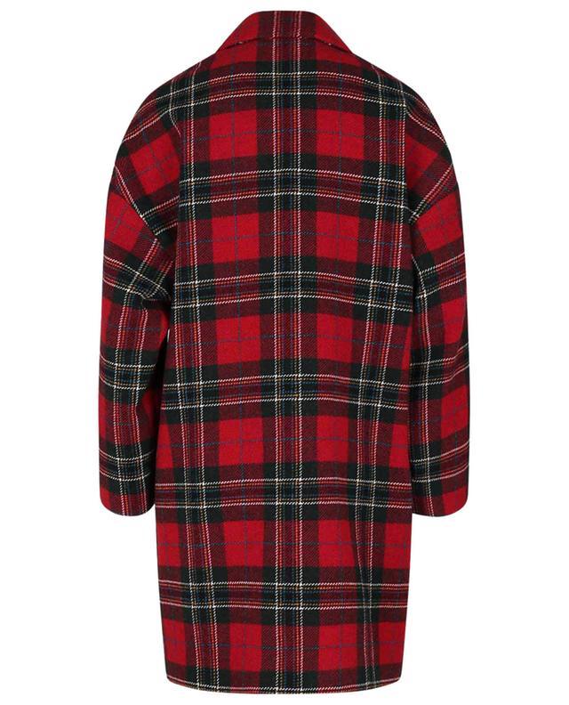 Manteau oversize court à boutonnage double en laine Tartan RED VALENTINO