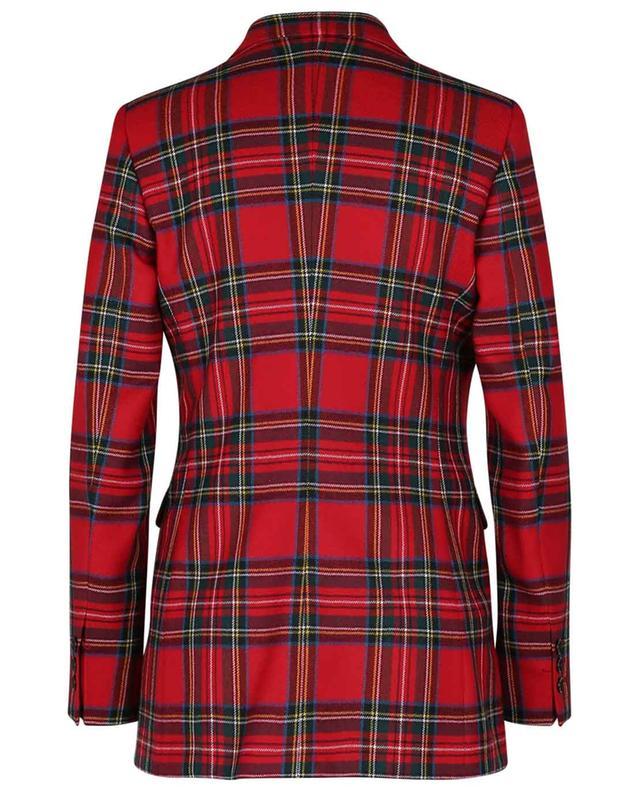 Blazer cintré en laine à carreaux RED VALENTINO