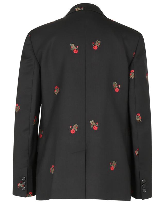 Blazer oversize en laine brodé de fleurs RED VALENTINO