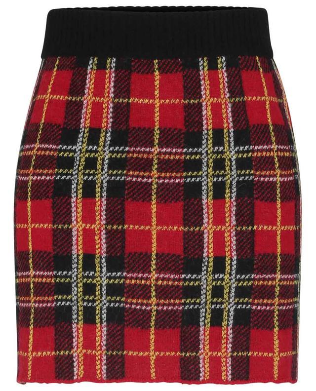 Mini jupe ajustée en maille Tartan RED VALENTINO