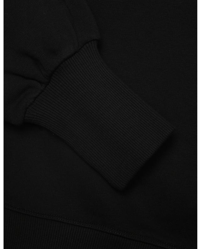 Sweat-shirt boxy à col V orné de dentelle RED VALENTINO